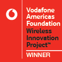 Winner Badge - Vodafone Americas Foundation Wireless Innovation Project